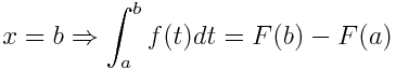 The second part of the fundamental theorem of calculus