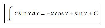 Answer to example 2 of integration by parts