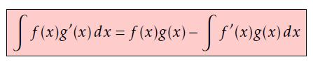 Integration by parts formula