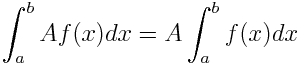 first property of integrals