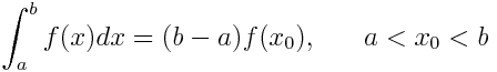 mean value theorem for integrals