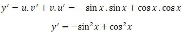 Applying the product rule to example 2
