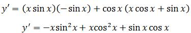 Applying the product rule