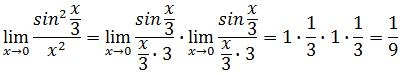 Example 4 of trigonometric limits