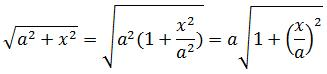 Solving second case of trigonometric substitution