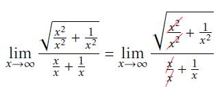 Step 3 of solving limit with radicals