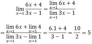 Limit of a quotient