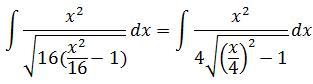 Solving example 2 of trigonometric substitution