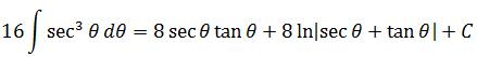 Applying the formula of integral of secant cubed in example 2