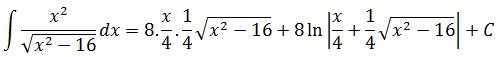Substituting back the variables in example 2 of trigonometric substitution