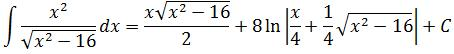 Final answer to example 2 of trigonometric substitution